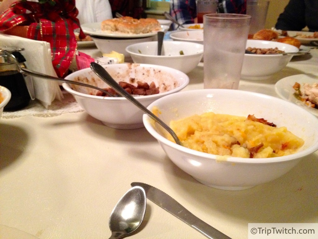 Family style meal at Mrs. Wilkes'