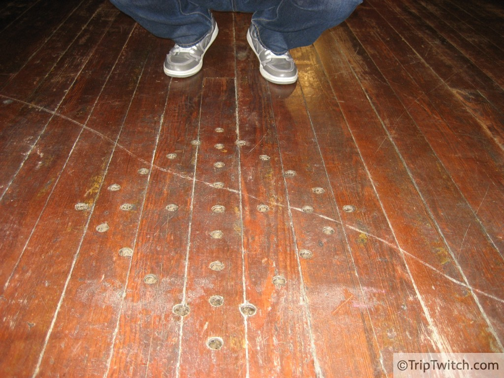 One of several Congolese Cosmogram's drilled into the floor of the First African Baptist Church
